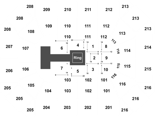 WWE World Wrestling Entertainment Tickets on 11/25/19 at ... on talking stick resort arena map, jobing arena map, germain arena map, soldier field map, bmo harris bank center map, arco arena map, ford center map, smoothie king center map, the palace of auburn hills map, world arena map, sprint arena map, bankers life arena map, u.s. bank arena map, amalie arena map, gampel pavilion map, sears centre arena map, mandalay bay arena map, oracle arena map, salinas sports complex map, nrg stadium map,