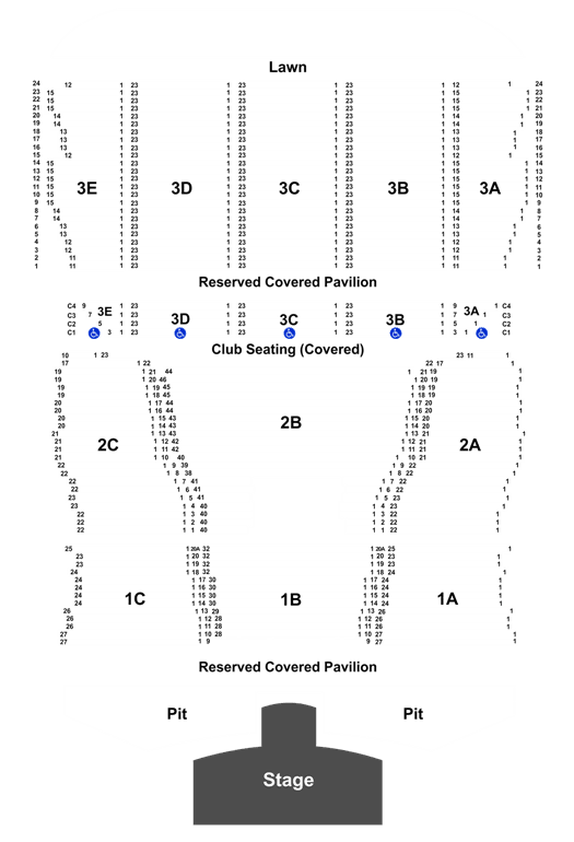 meadowbrook pavilion seating chart | Brokeasshome.com