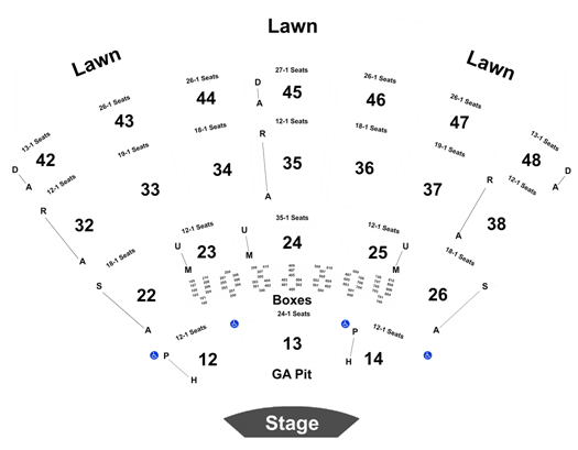 Blossom Music Center Seating Map Awesome Home