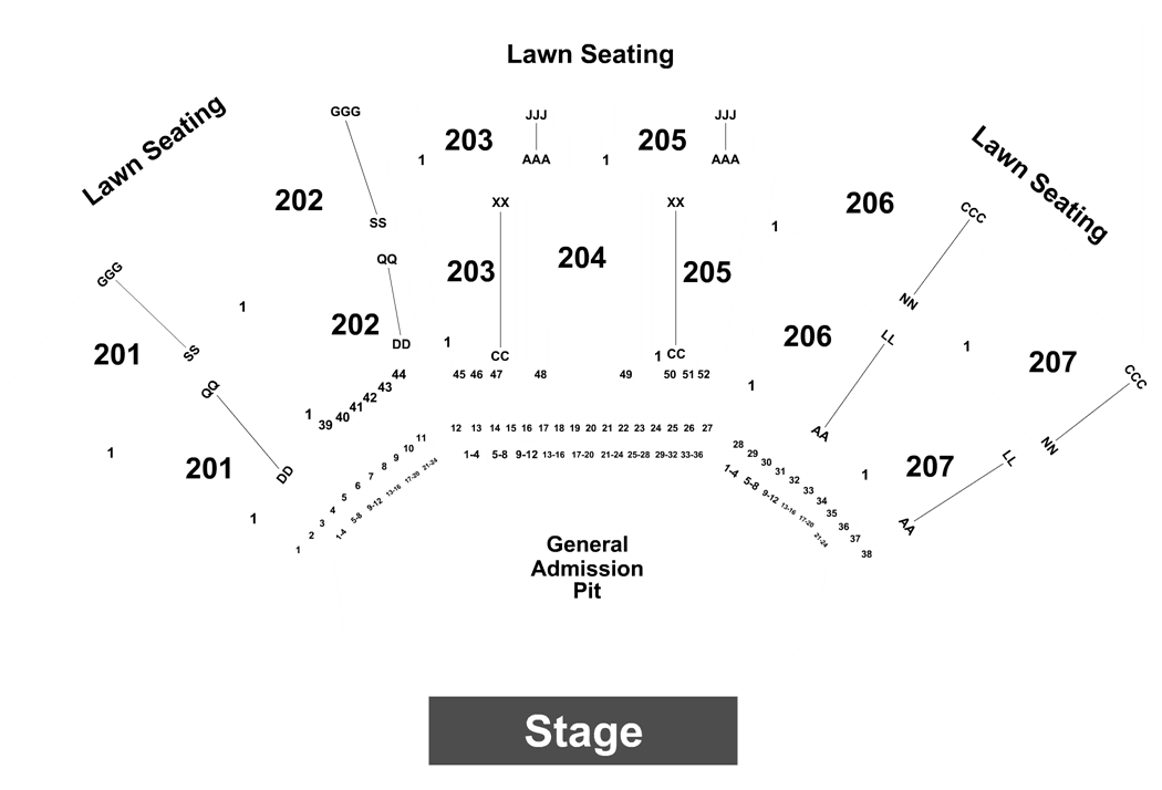 Cellairis Amphitheatre At Lakewood Seating Chart Ticket Solutions
