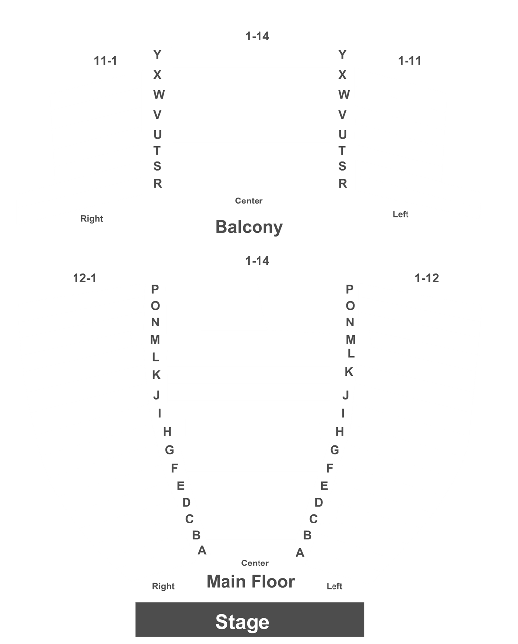 Fredericton Playhouse Seating Chart Trinity