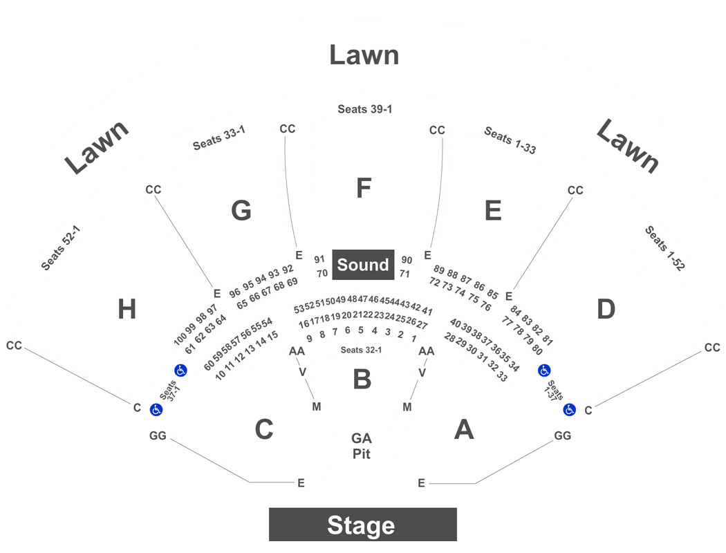 Capital Fm Arena Floor Plan Klipsch Music Center Seating Chart With Rows And Seat