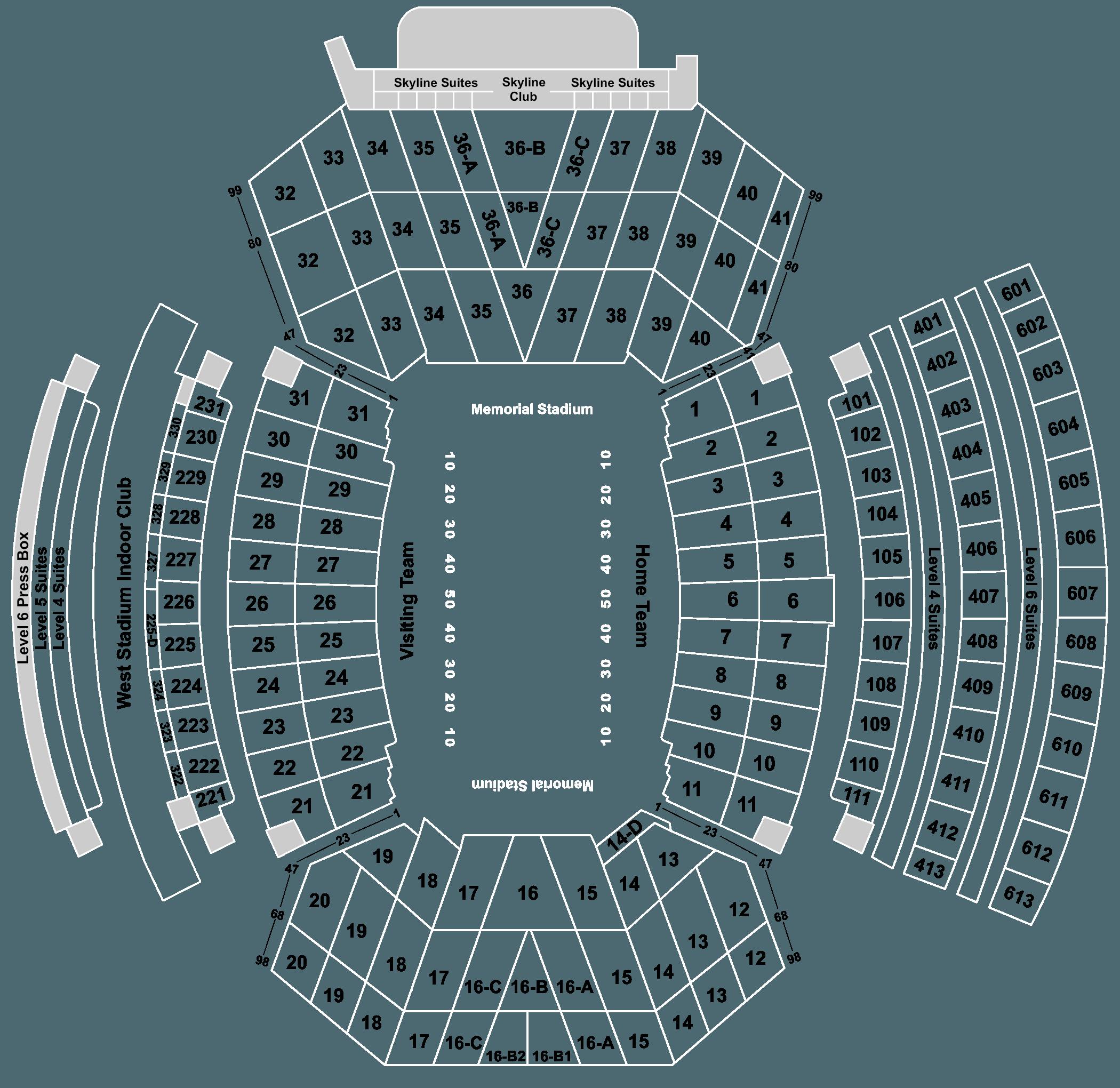 2020 Nebraska Cornhuskers Football Season Tickets Includes