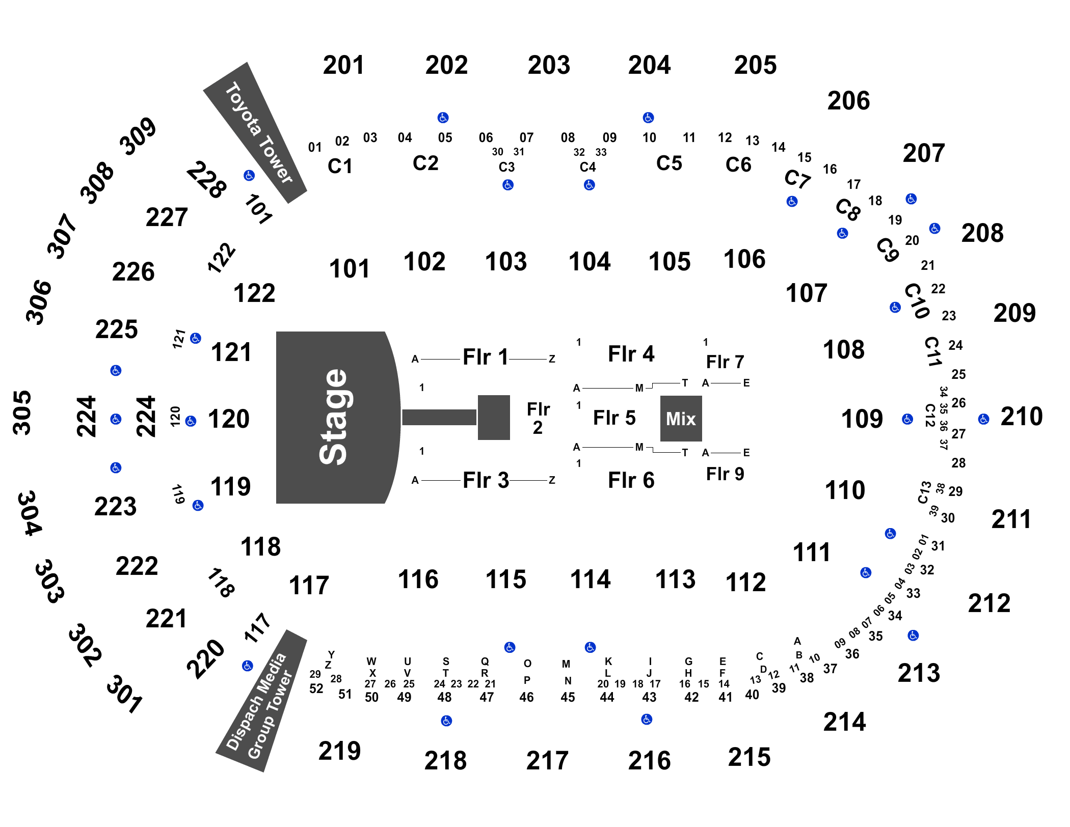 Queen & Adam Lambert Tickets on 8/13/2019 8:00PM at ... on elvis presley map, austin mahone map, ronald reagan map, michael jackson map,
