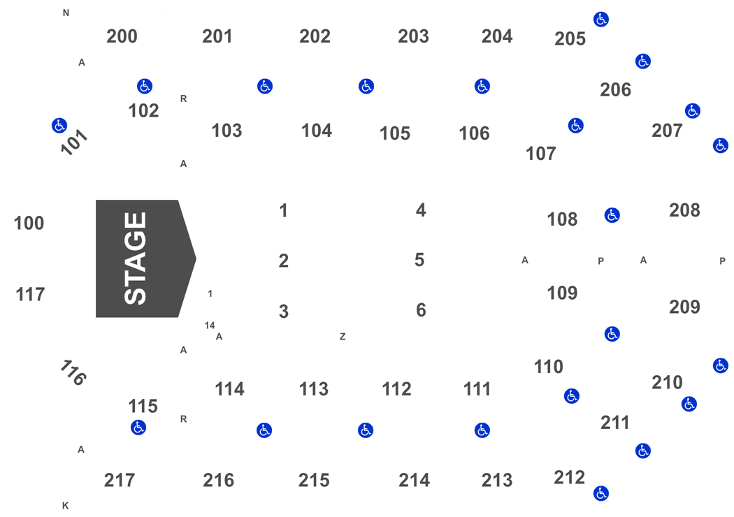 rabobank arena seating chart with seat numbers