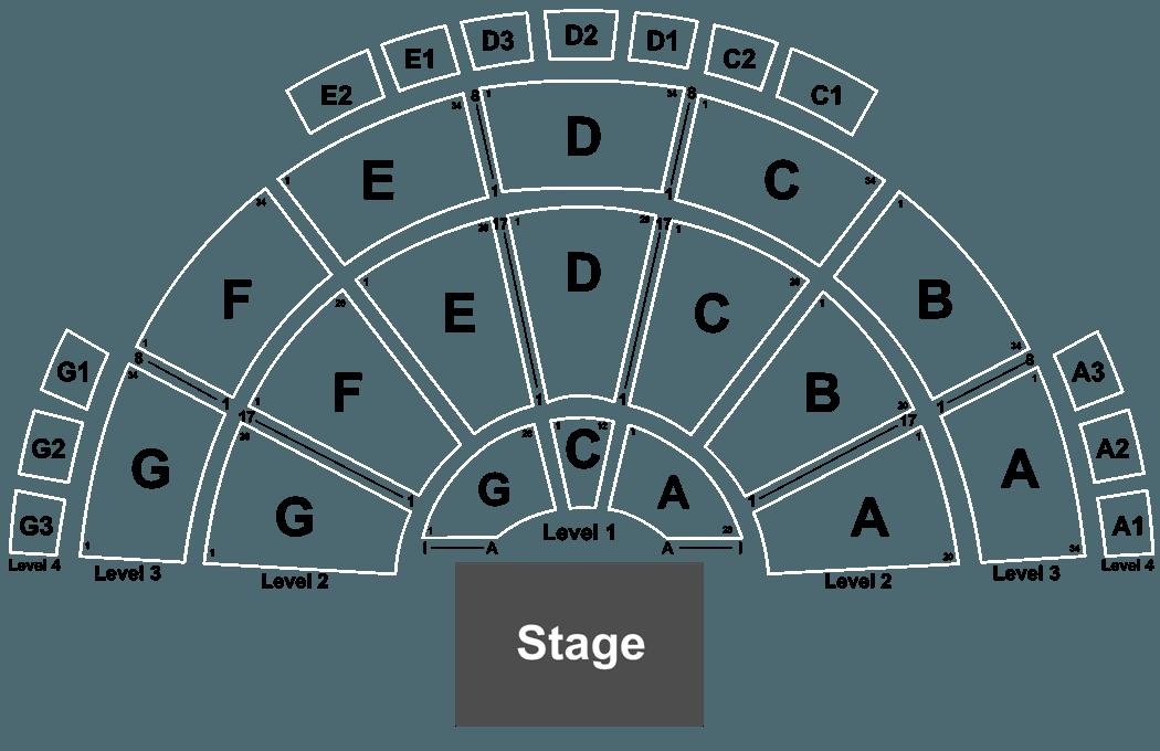 sandia amphitheater seating map