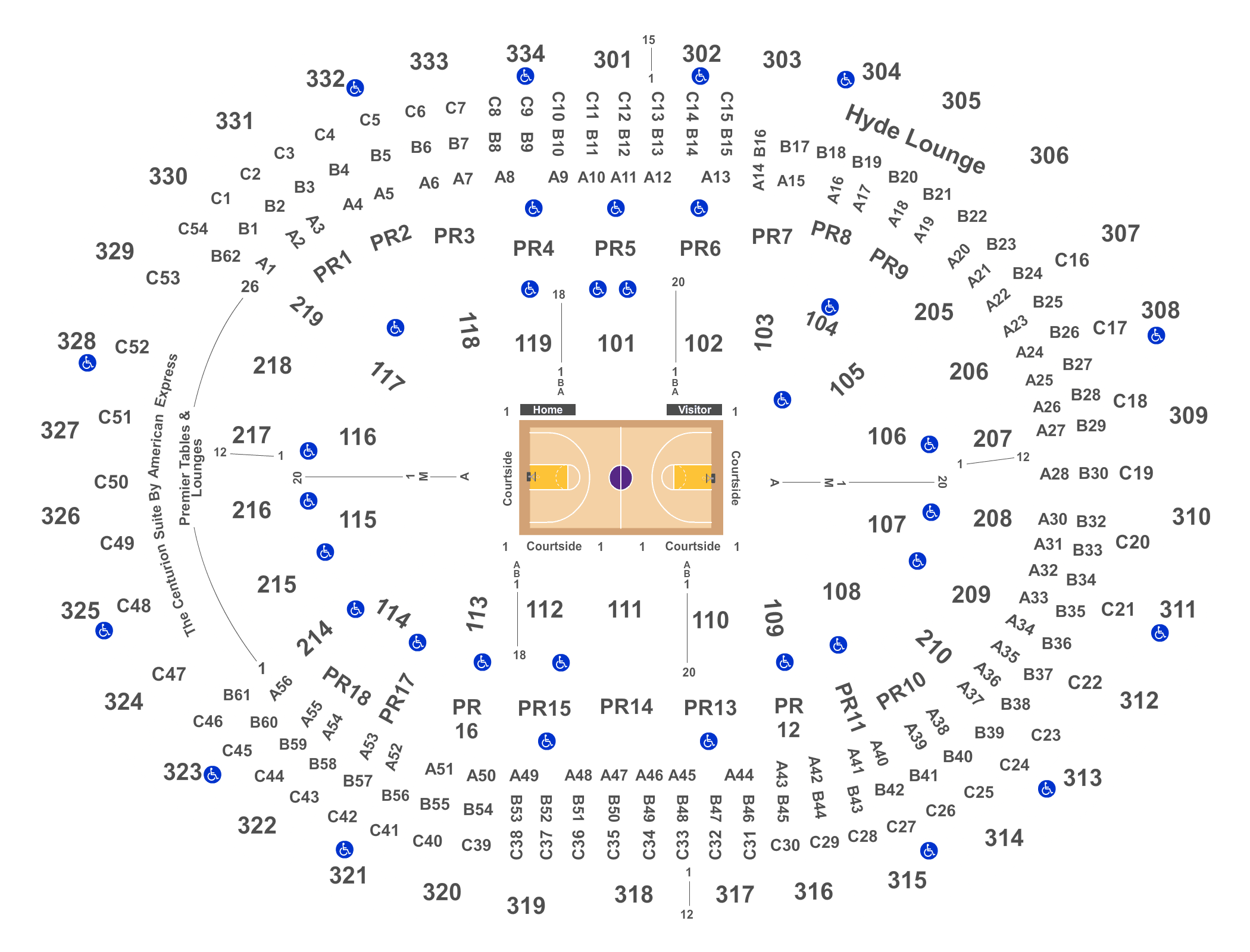 NBA Rising Stars Challenge Tickets On  TBA NBA Rising - Los angeles map to the stars