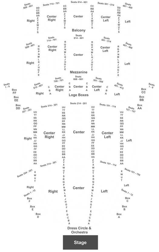 Keybank State Theater Seating Chart