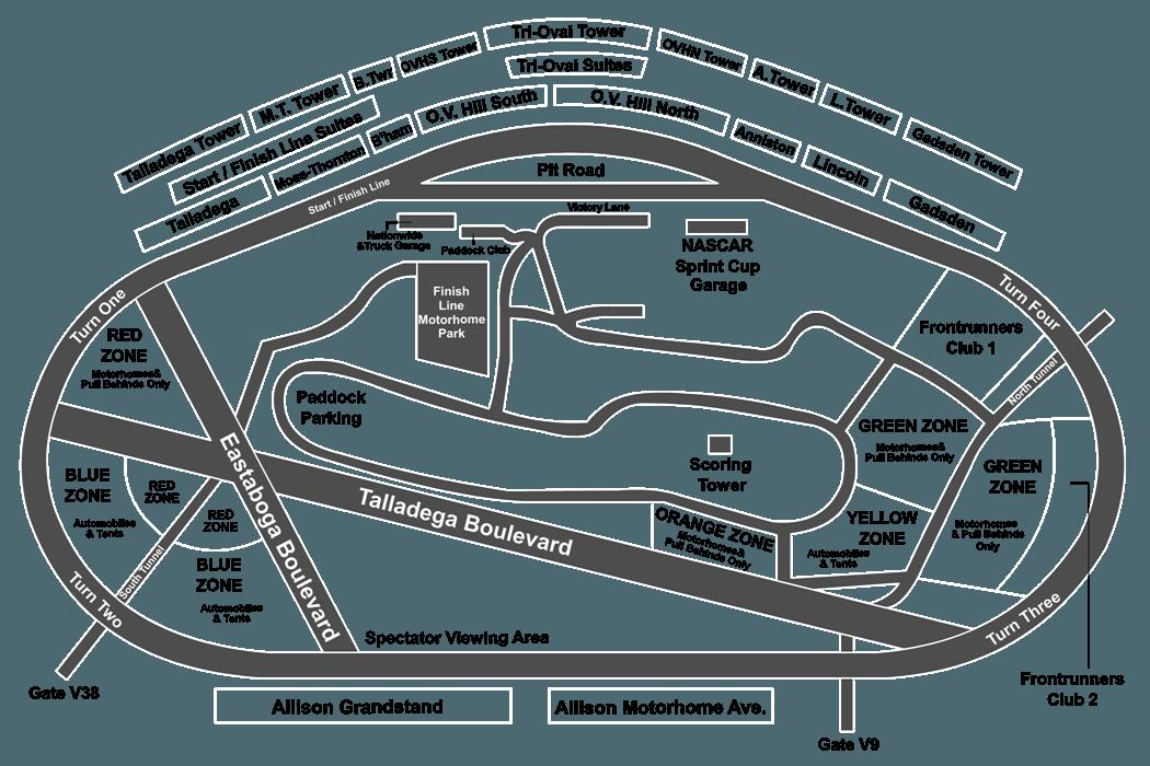 talladega motor speedway seating chart