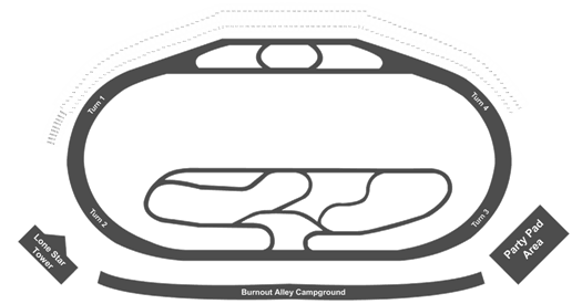 texas motor speedway virtual seat view