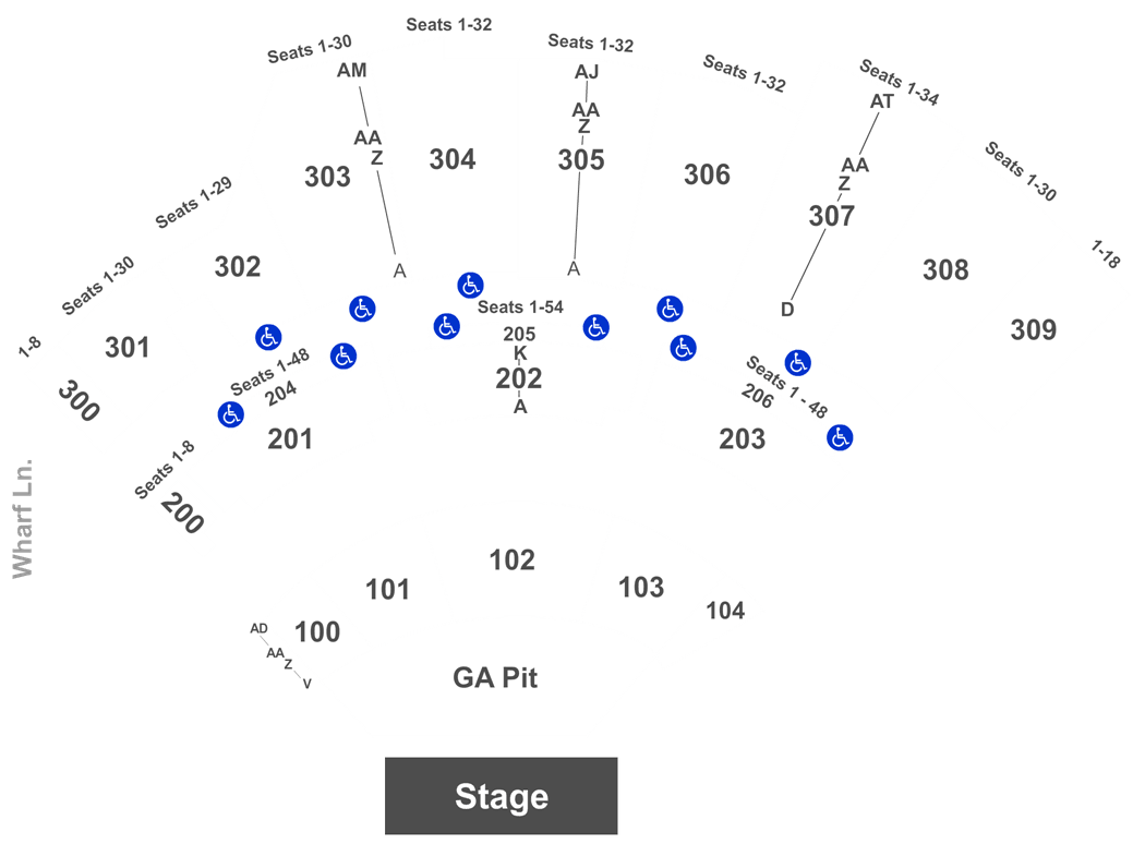 The Amphitheater At The Wharf Seating Chart Ticket Solutions